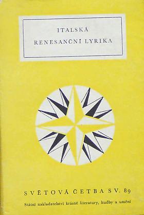Italská renesanční lyrika antologie