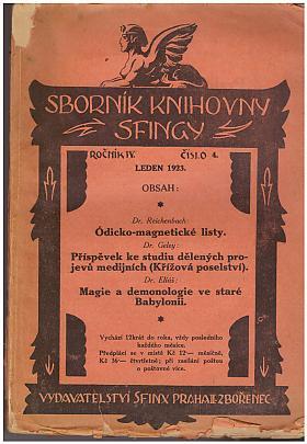 Sborník knihovny Sfingy, ročník IV, číslo 4