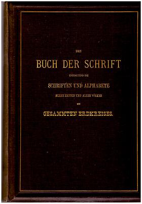 Carl Faulmann – Das Buch der Schrift Carl Faulmann