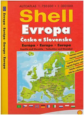 Autoatlas Shell Evropa - Česko a Slovensko