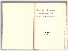 Nicolas-Edme Rétif de la Bretonne – O nebezpečí erotické četby