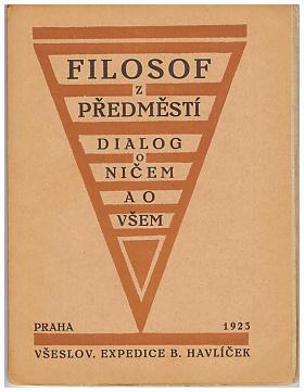 [Ladislav Klíma] – Filosof z předměstí: dialog o ničem a o všem.